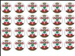 24 x Southampton Edible Rice Wafer Paper Cupcake Top Toppers